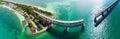 Bahia Honda Bridge panoramic aerial view on Overseas Highway - F