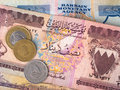 Bahrain banknotes and coins Royalty Free Stock Photo