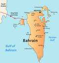 Bahrain map Royalty Free Stock Image
