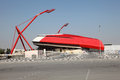 The bahrain national stadium in east riffa Stock Photography