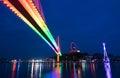 Bai Chay Bridge in night Ha Long Bay, Vietnam Royalty Free Stock Photo