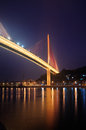 Bai Chay Bridge at Night Royalty Free Stock Photo