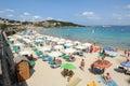 Baia Sardinia beach on Sardinia, Italy Royalty Free Stock Photo
