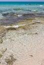 Baia verde beach near gallipoli salento italy Royalty Free Stock Image