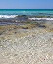 Baia verde beach near gallipoli salento italy Royalty Free Stock Photos