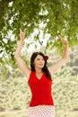 Bailarín dancing outdoors del flamenco Imagen de archivo libre de regalías