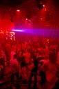 Baile del club de noche del disco Foto de archivo