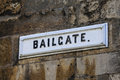 Bailgate Street Sign in Lincoln UK Royalty Free Stock Photo