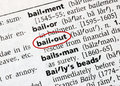 Bailout Stock Image