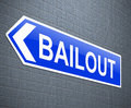 Bailout concept. Royalty Free Stock Photography