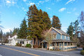 Bainbridge island usa january picturesque old style house on around people live in january Stock Photo