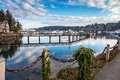 Bainbridge island usa january yacht harbour on around people live in january Stock Photos