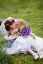 Baiser Wedding Images libres de droits