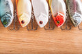 Bait for fishing - wobbler on light wood Royalty Free Stock Photography