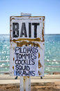 Bait Sign Stock Images