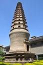 Baiyi temple pagoda in lanzhou museum gansu china Stock Photography