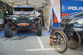 Baja aragon after first day esteve s team in rally in teruel spain Stock Images