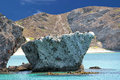 Baja california beach crystal water white sand tropical paradise panorama Stock Image