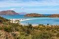 Baja california landscapes baia concepcion in mexico Royalty Free Stock Photo