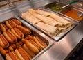 Baja Fish Taco Wraps and Turkey Hot Dogs Royalty Free Stock Photo