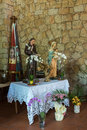 Baja sardinia sardinia italy may church of the francisca franciscan father don giacomino in baia on Stock Photo