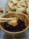Bake tofu chinese cuisine yunnan Royalty Free Stock Photography