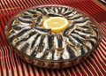 Baked anchovy with rice Royalty Free Stock Photo