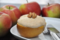 Baked Apple with Meringue Royalty Free Stock Photo