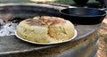Baked bannock bread Royalty Free Stock Photo