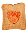 Baked beans and toast Stock Photography