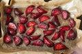 Baked beet inside oven