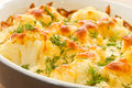 Baked Cauliflower Stock Photo