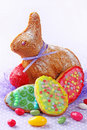 Baked easter rabbit Royalty Free Stock Photography