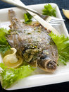 Baked fish Royalty Free Stock Image