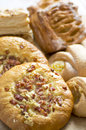 Baked goods a variety of tasty from a bakery Royalty Free Stock Images