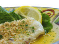 Baked haddock Royalty Free Stock Photography