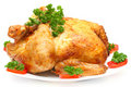Baked Holiday Turkey with garnish Royalty Free Stock Images