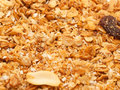 Baked muesli background close up studio Royalty Free Stock Photos