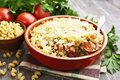 Baked Pasta With Bacon And Gre...