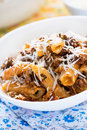 Baked pasta with meat tomato sauce and cheese Royalty Free Stock Photo