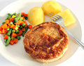 Baked pastry pie dinner veg Royalty Free Stock Photos