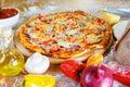 Baked pizza Royalty Free Stock Photo