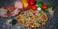 Baked pizza. Royalty Free Stock Photo