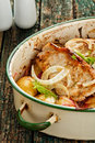 Baked Pork and fennel Royalty Free Stock Photos