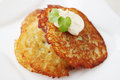Baked potato pancake Stock Images