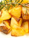 Baked potatoes Stock Images