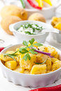 Baked potatoes with sour cream Royalty Free Stock Image