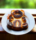 Baked pudding bear Royalty Free Stock Image