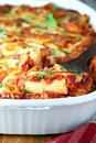 Baked rigatoni Royalty Free Stock Photo