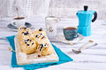 Baked rolls with raisins Royalty Free Stock Photo